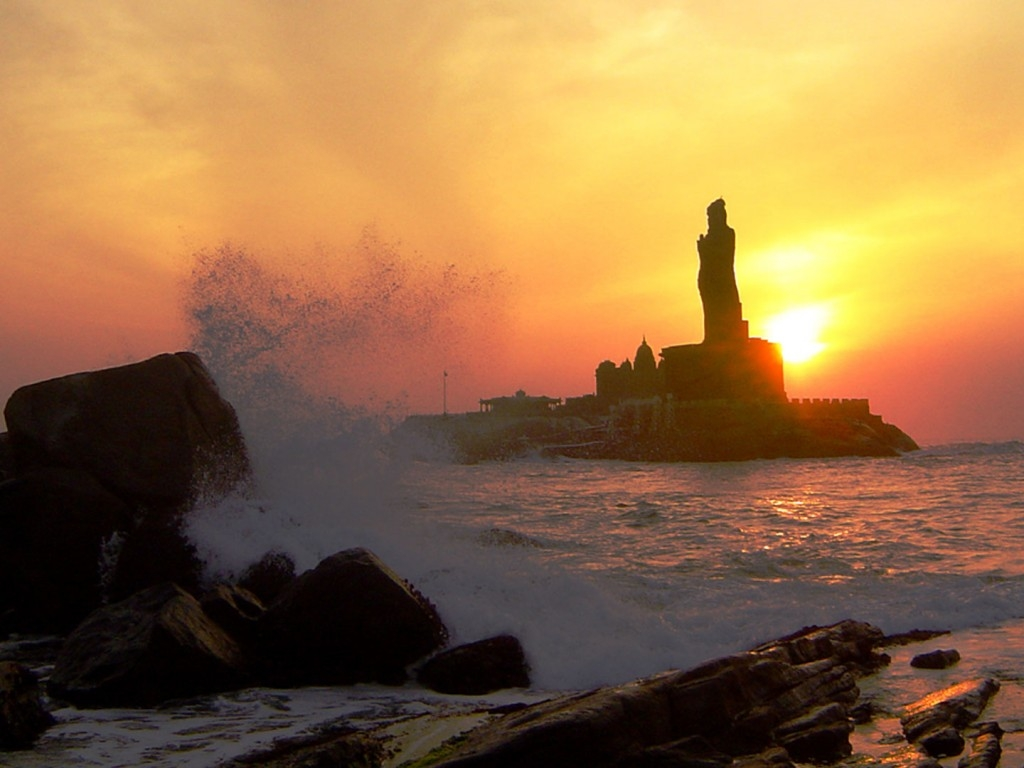 Kanyakumari at Sun Set