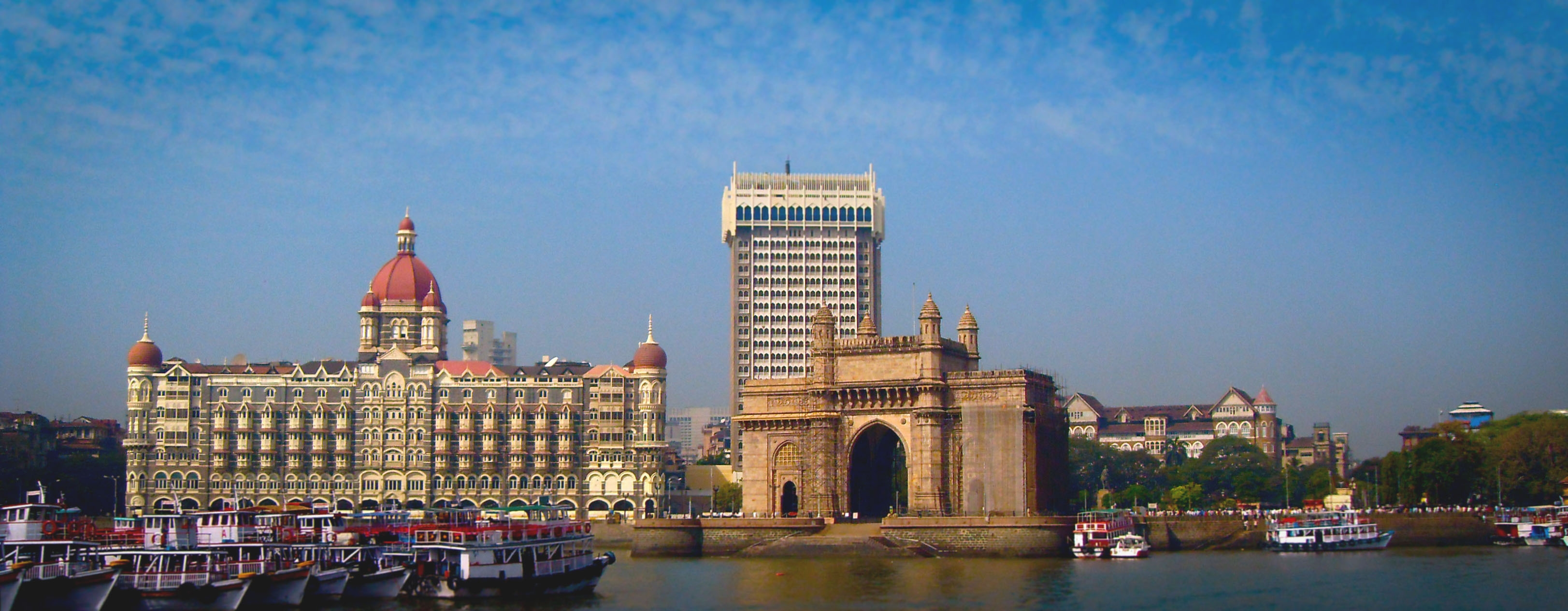 Taj Mahal Hotel and Gateway of India