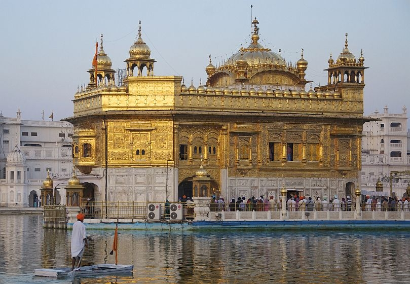 Harmandir Sahib or Golden Temple in Amritsar