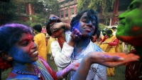 Holi Celebrations in Kolkata Streets